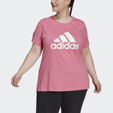 Women's Essentials Pink Essentials Logo Tee (Plus Size)