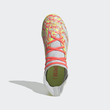 Kids Football Grey Predator Freak.3 Firm Ground Boots