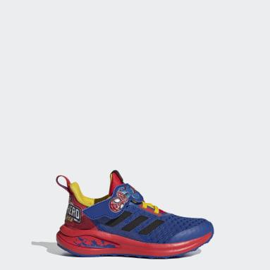 Children Running Blue FortaRun Super Hero Shoes