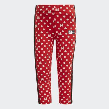 เด็กผู้หญิง ไลฟ์สไตล์ สีแดง กางเกงรัดรูป adidas x Disney