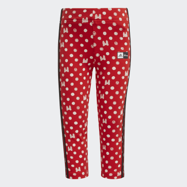 Legging adidas x Disney Vermelho Meninas Training