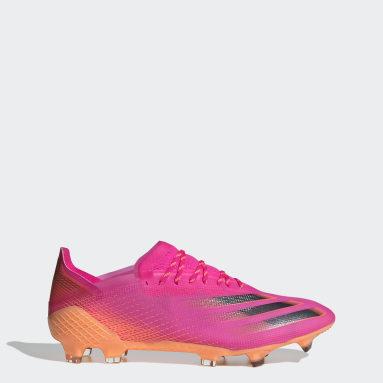 Bota de fútbol X Ghosted.1 césped natural seco Rosa Fútbol