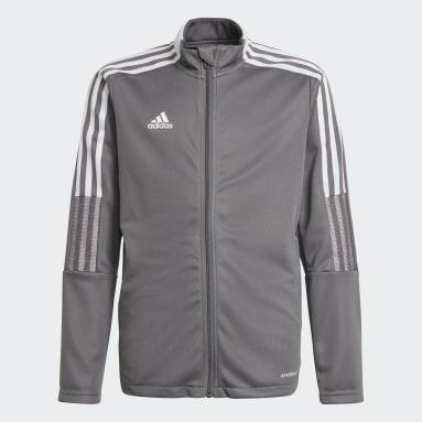 Veste de survêtement Tiro 21 gris Adolescents Soccer