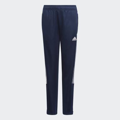 Girls Football Blue Tiro Track Pants