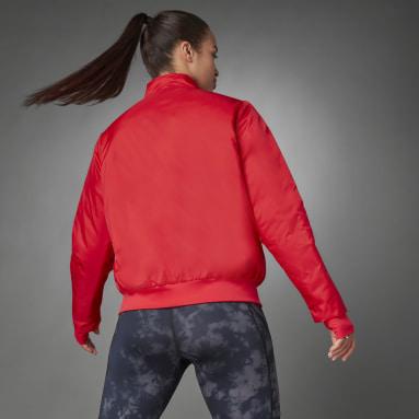 Ženy Běh červená Bunda Thermal Woven