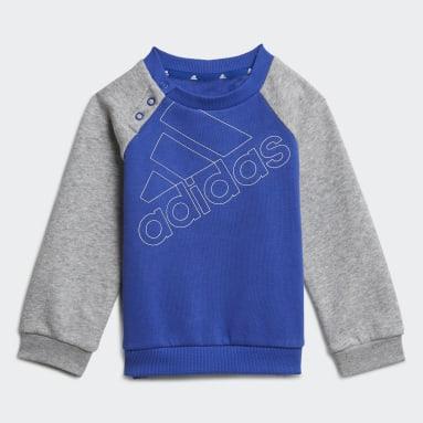 Completo felpa e pantaloni adidas Essentials Logo (Neutral) Blu Bambini Sportswear