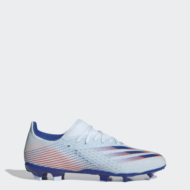 Men Football Blue X Ghosted.3 Firm Ground Boots