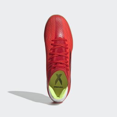 Calzado de Fútbol X Speedflow.3 Cancha Cubierta Rojo Fútbol