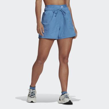 Women Sportswear Blue adidas by Stella McCartney Sportswear Woven Shorts