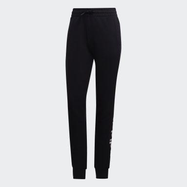 Pants Essentials Linear Negro Mujer Diseño Deportivo