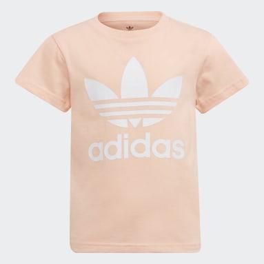 เด็ก Originals สีชมพู เสื้อยืด Adicolor Trefoil