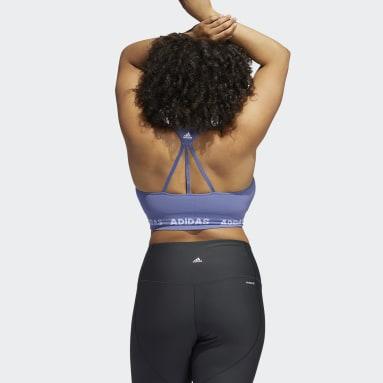 Women Studio Purple Training Aeroknit Bra (Plus Size)