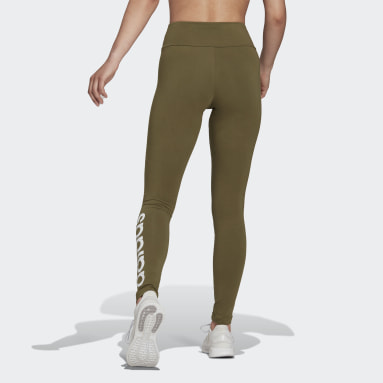 Women Sport Inspired Green LOUNGEWEAR Essentials High-Waisted Logo Leggings