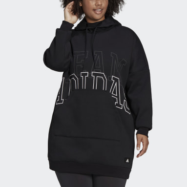 Felpa con cappuccio adidas Sportswear Oversize (Taglie plus) Nero Donna Sportswear