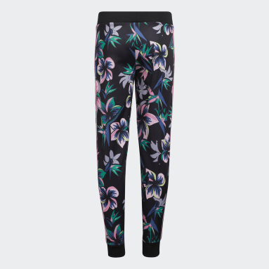 Youth Training Black Allover Print Joggers