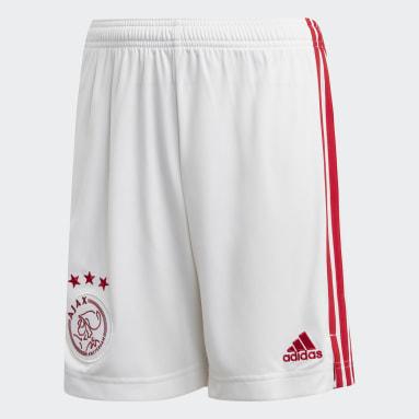 Kids Football White Ajax Amsterdam Home Shorts