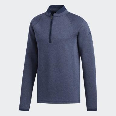 Men Golf Blue Club Sweater
