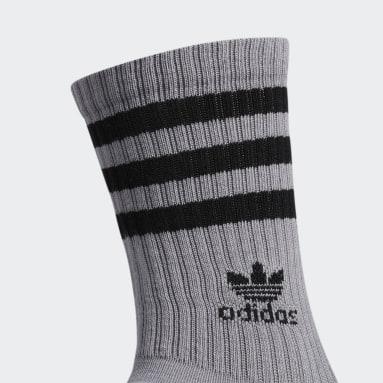 Men's Originals Grey Roller Crew Socks 3 Pairs