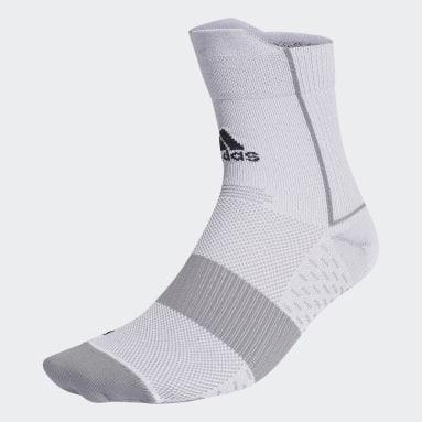 เทรนนิง สีขาว ถุงเท้า Running Adizero Ultralight Quarter Performance