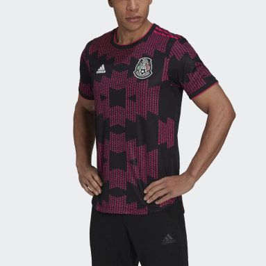 Men's Soccer Black Mexico Home Authentic Jersey