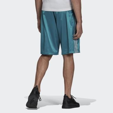 Shorts Adicolor Classics 3 Franjas Satén Turquesa Hombre Originals