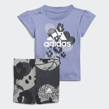 синий Комплект: футболка и шорты Summer