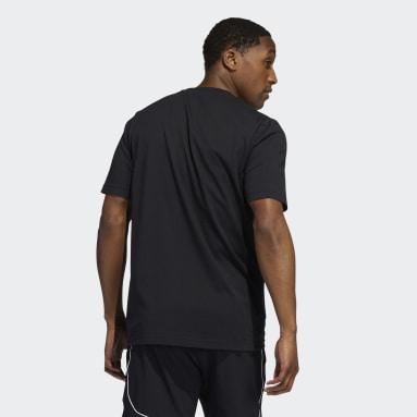 Camiseta Badge of Sport Retro Estampada Negro Hombre Basketball