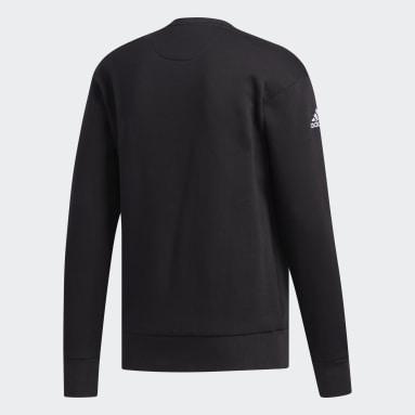 Men Basketball Black Harden Fleece Crew Sweatshirt