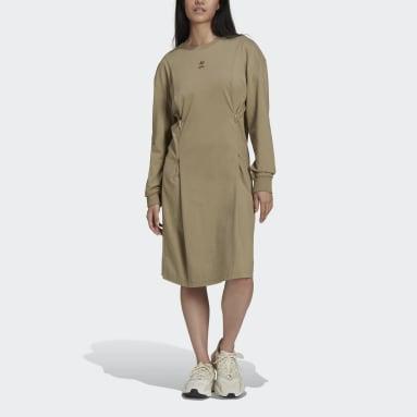 Ženy Originals zelená Šaty Long Sleeve
