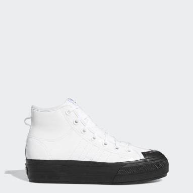 Women's Originals White Nizza RF Platform Mid Shoes
