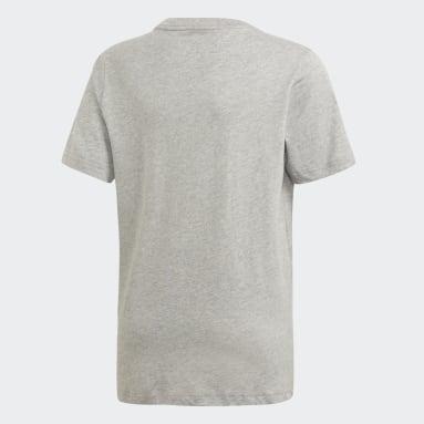 T-shirt Essentials Linear Logo Gris Garçons Sportswear