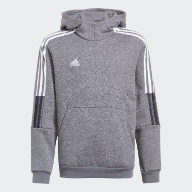 Youth Lifestyle Grey Tiro 21 Sweat Hoodie