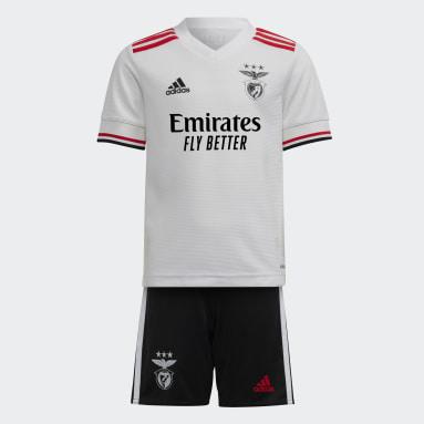 Mini Kit Away 21/22 Benfica Bianco Bambini Calcio