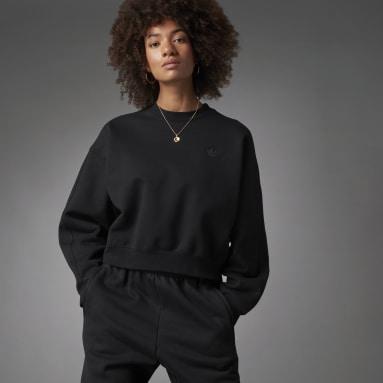 Sweat-shirt Fashion Essentials Batwing Crew noir Femmes Originals