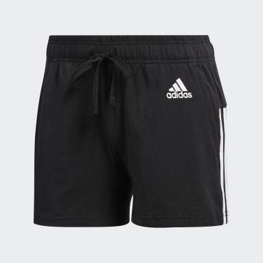 Shorts Ess 3 Stripes Negro Mujer Diseño Deportivo