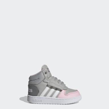 Kids Basketball Grey Hoops 2.0 Mid Shoes