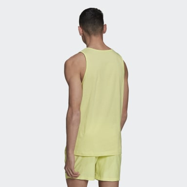 Camiseta sin mangas Adicolor Essentials Trefoil Amarillo Hombre Originals