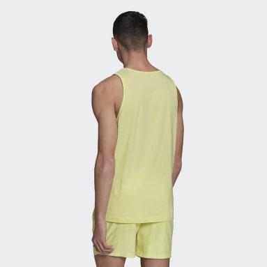 Muži Originals žlutá Tílko Adicolor Essentials Trefoil