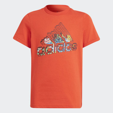 Youth 8-16 Years Gym & Training Red adidas x LEGO® Graphic T-Shirt
