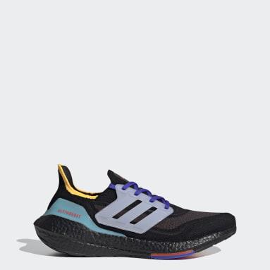 Men Running Black Ultraboost 21 Shoes