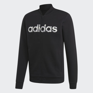 Men Sportswear Black Commercial Bomber Jacket