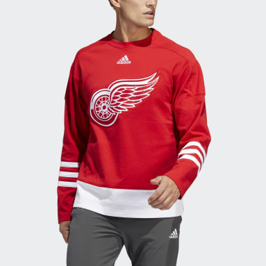 Men's Hockey Red Red Wings Crew Sweater
