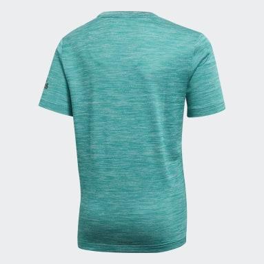 Youth 8-16 Years Yoga Green Gradient T-Shirt