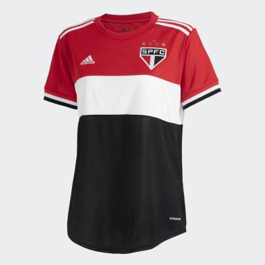 Camisa 3 São Paulo FC 21 Feminina Vermelho Mulher Futebol