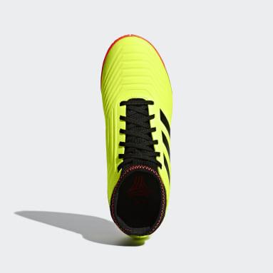 Calzado de fútbol Predator Tango 18.3 Superficies Interiores Amarillo Niño Fútbol