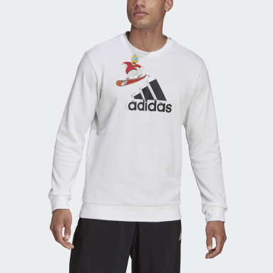 adidas x The Simpsons Snowboard Graphic Sweatshirt Bialy