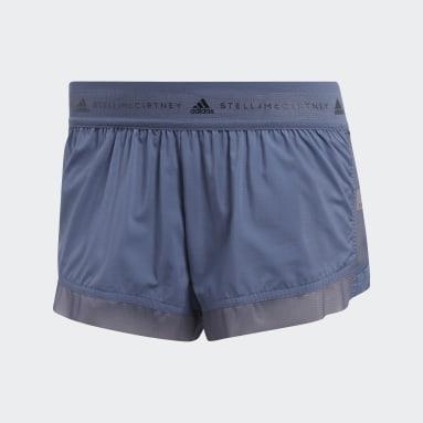Shorts Run Adizero Azul Mujer adidas by Stella McCartney