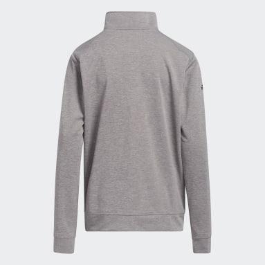 Sweat-shirt Heather Quarter Zip Gris Garçons Golf