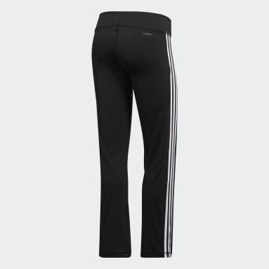 Women Gym & Training Black Brushed 3-Stripes Joggers