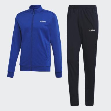 Men Gym & Training Blue Essentials Basics Track Suit